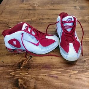 2004 Nike Shox Red White Silver Flight Basketball